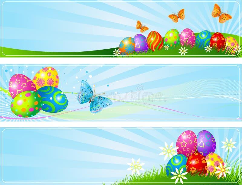 Diversas banderas de Pascua ilustración del vector