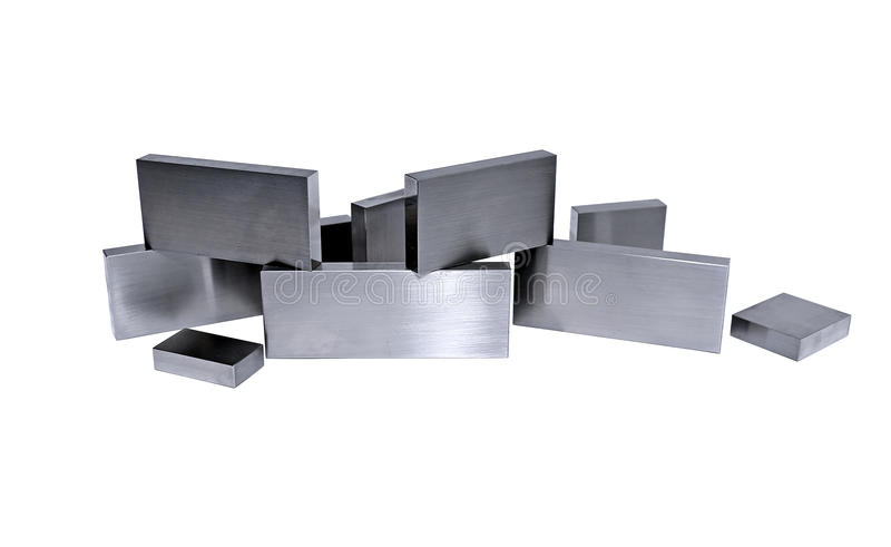 Diversas barras de metal isoladas fotografia de stock