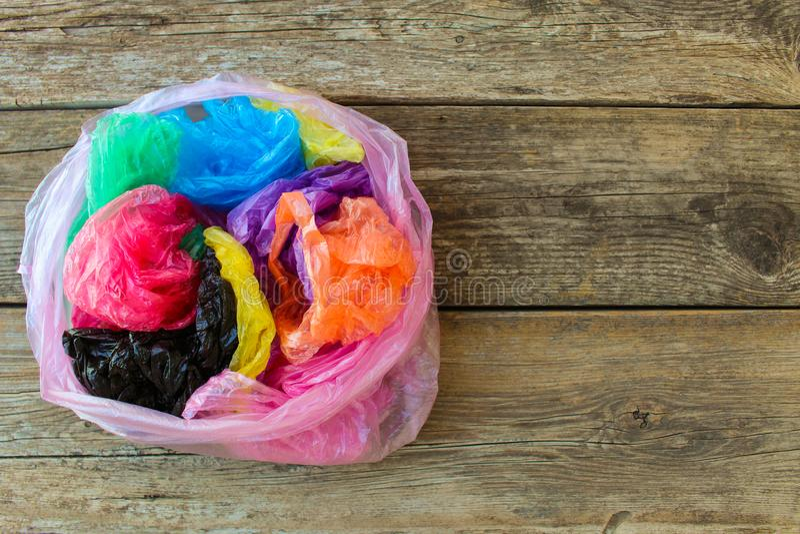 Diversas bolsas de plástico imágenes de archivo libres de regalías