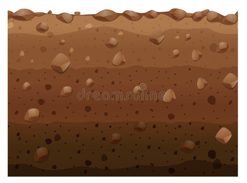Diversas capas de suelo libre illustration