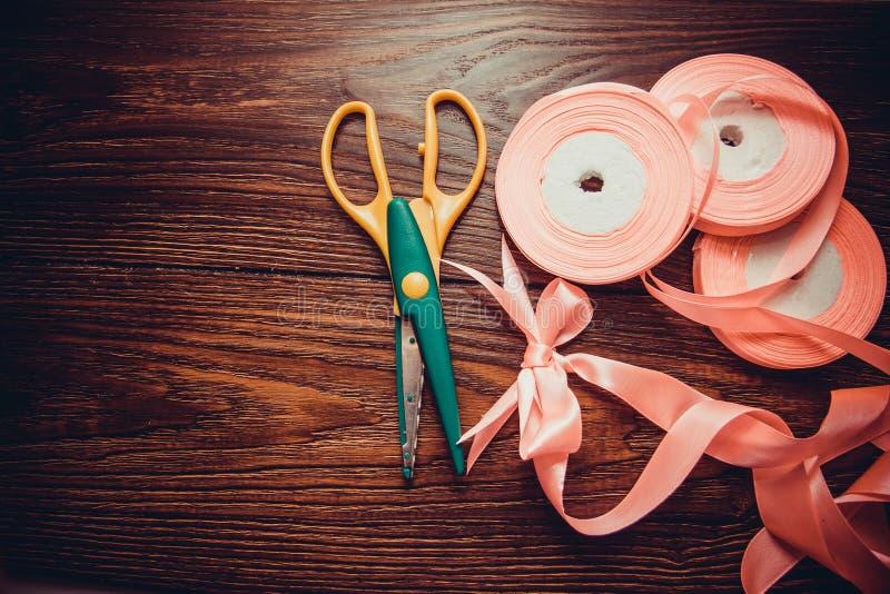 Diversas cintas de seda imágenes de archivo libres de regalías