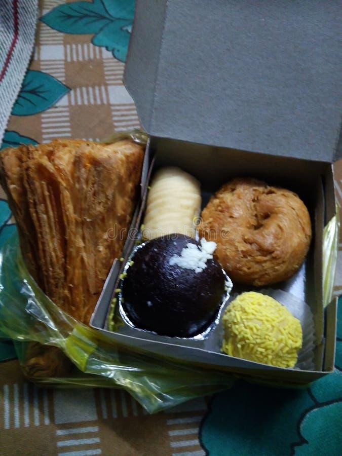 Diversas comidas en un paquete imagen de archivo libre de regalías