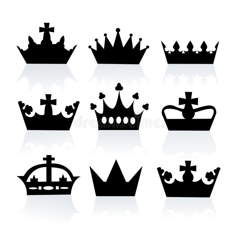 Diversas coronas ilustración del vector