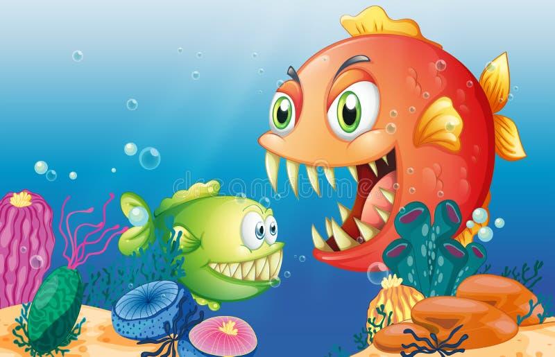 Diversas criaturas del mar libre illustration