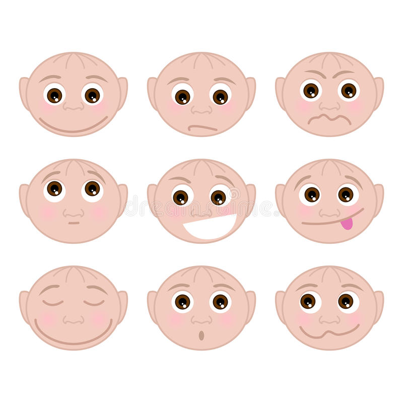 Diversas emociones determinadas ilustración del vector