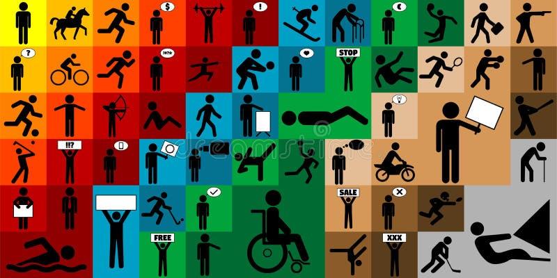 Diversas figuras sistema del palillo del icono libre illustration