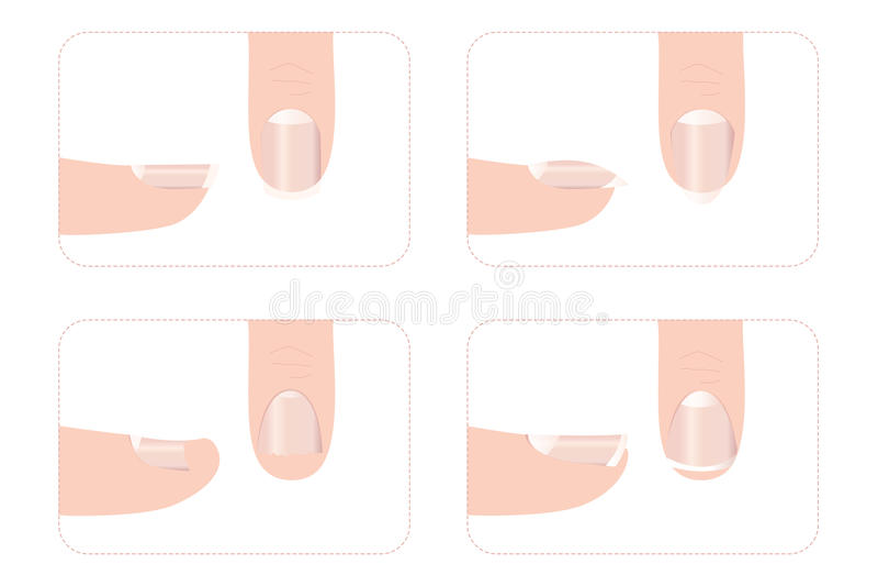 Diversas formas del clavo con los fingeres imagenes de archivo