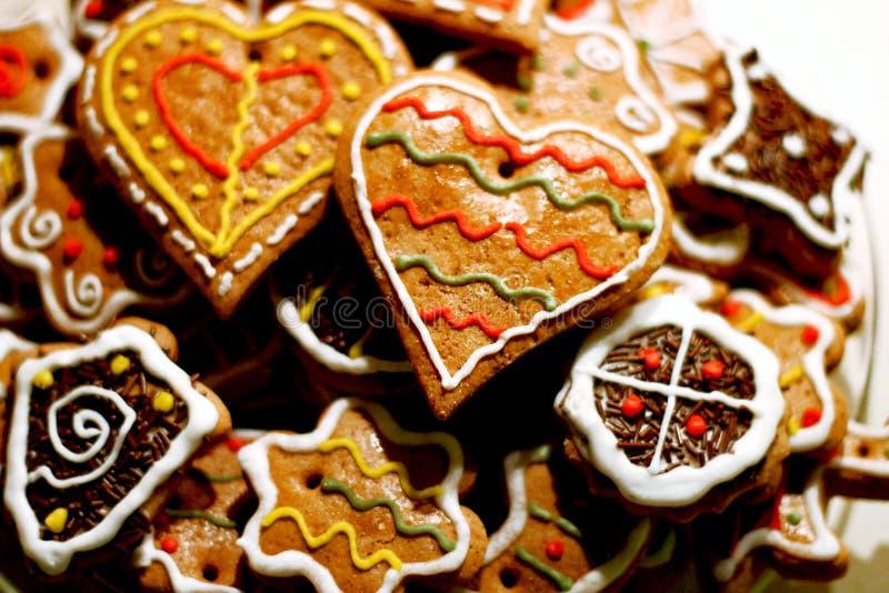Diversas galletas de la Navidad imagenes de archivo