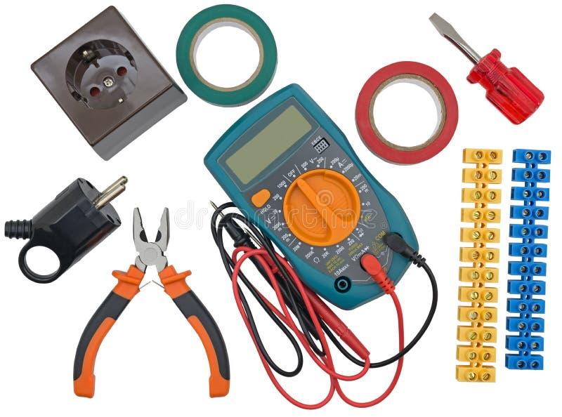 Diversas herramientas eléctricas foto de archivo