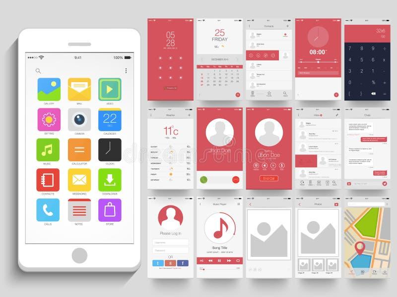 Diversas pantallas de la aplicación móvil UI libre illustration