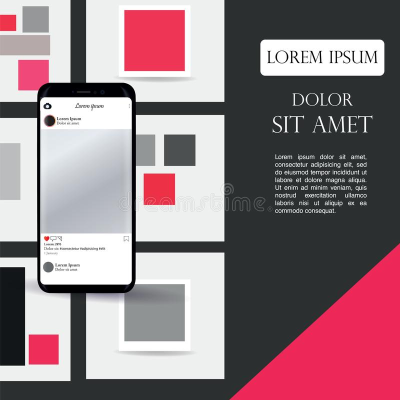 Diversas pantallas de UI, de UX, del GUI y los iconos planos del web para los apps móviles, sitio web responsivo incluyendo inici ilustración del vector