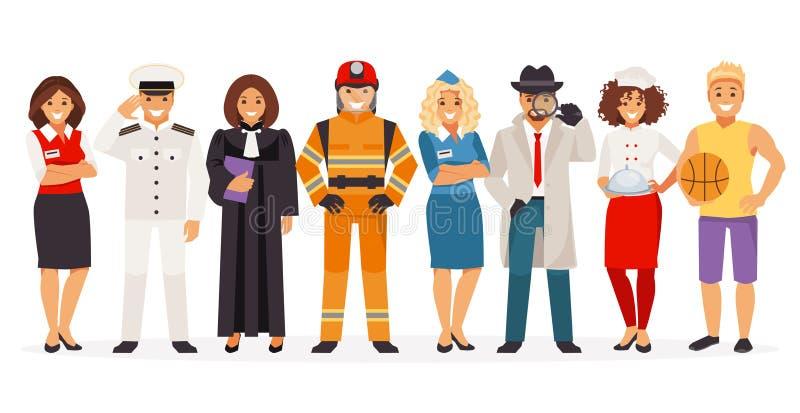 Diversas profesiones ilustración del vector