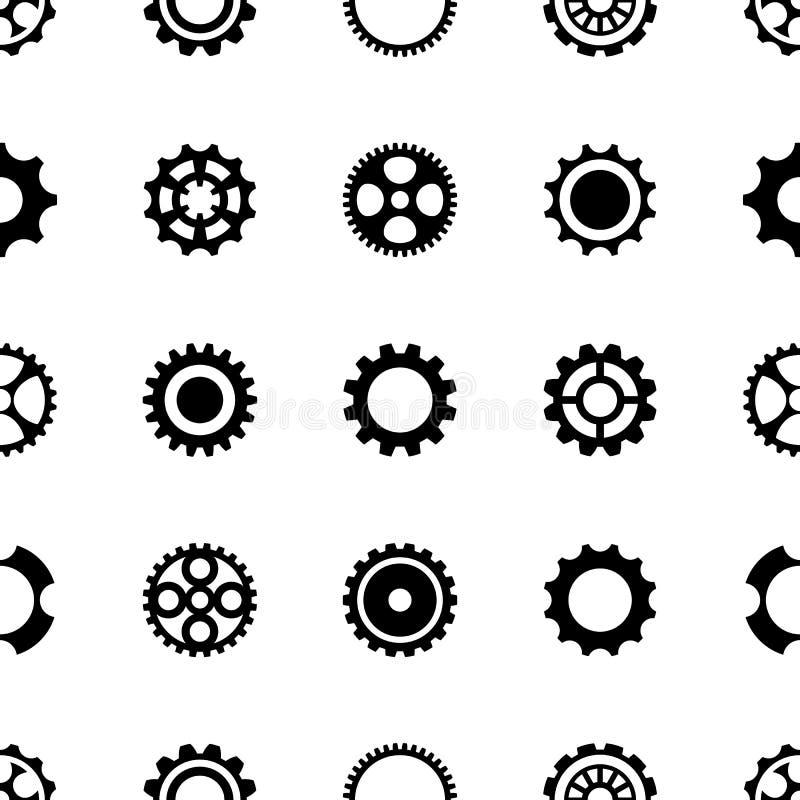 Diversas ruedas de engranaje del modelo inconsútil stock de ilustración