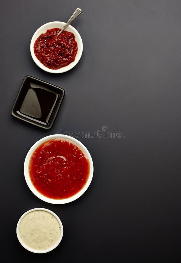 Diversas salsas fotos de archivo