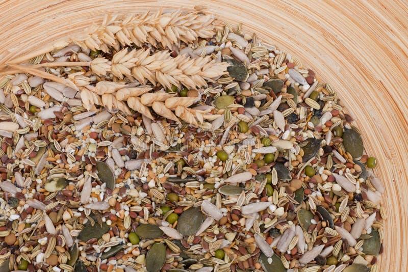 Diversas variedades del grano mezcladas juntas fotos de archivo