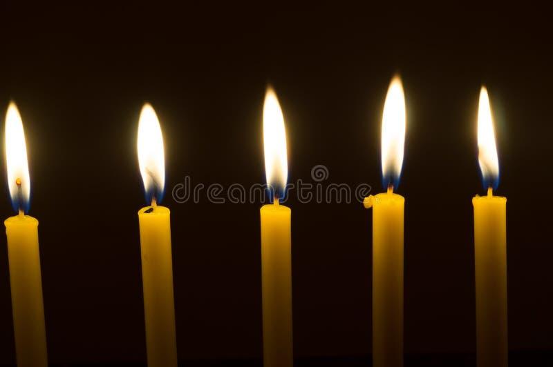 Diversas velas de incandescência imagem de stock royalty free