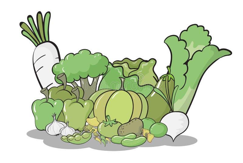 Diversas verduras ilustración del vector
