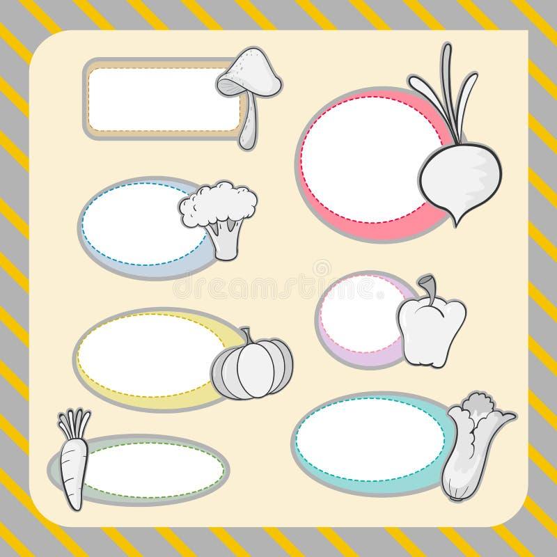 Diversas verduras y formas libre illustration