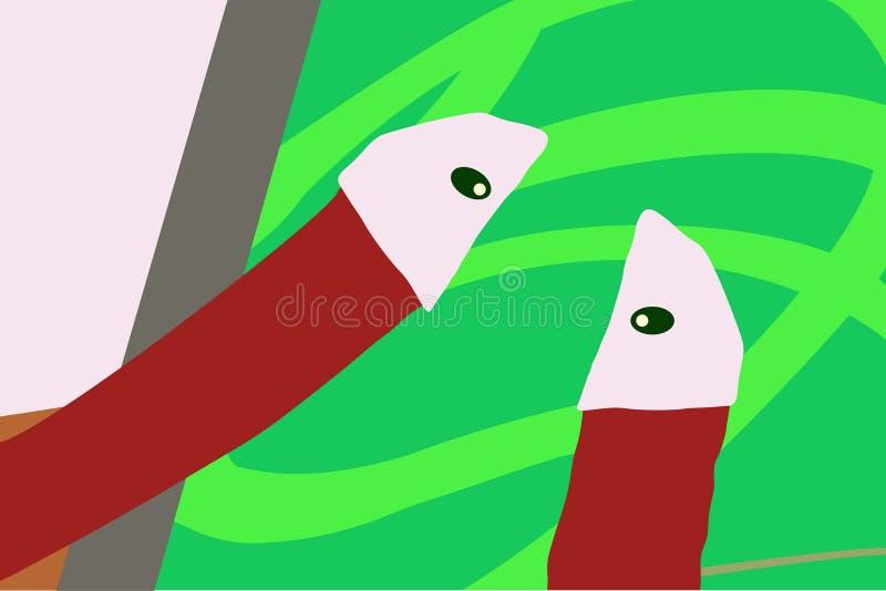 Diversas y diversas formas geométricas stock de ilustración