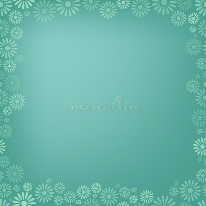 Diverse achtergrond van het bloemkader royalty-vrije illustratie