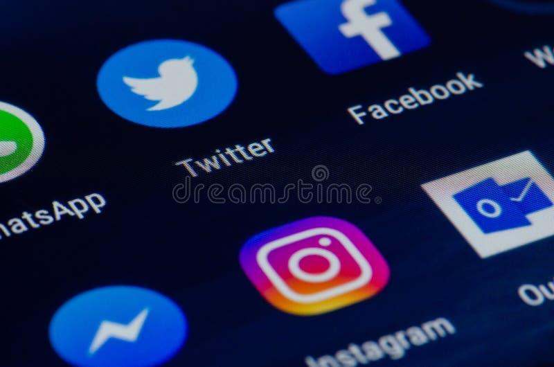 Diverse app, het scherm stock fotografie