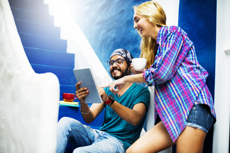 Diverse Architect People Group Hanging Out Concept stock image