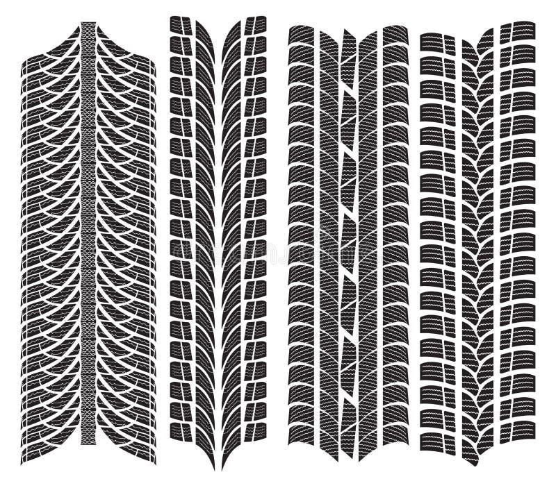 Diverse bandloopvlakken vector illustratie