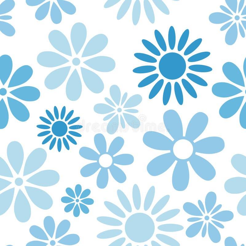Diverse bloemen naadloos patroon stock illustratie