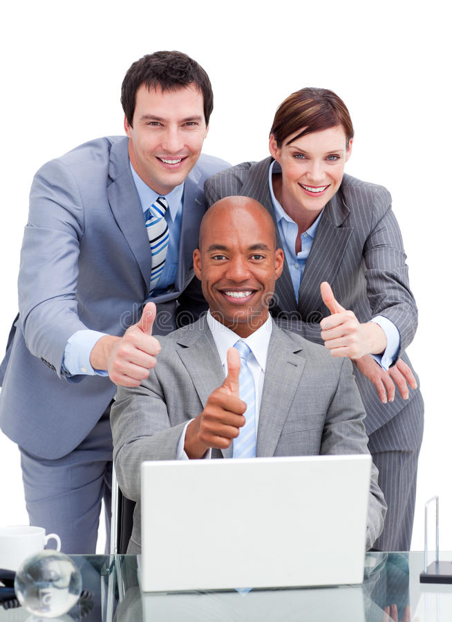 Download Diverse Business Co-workers With Thums Up Royalty Free Stock Photo - Image: 13289125