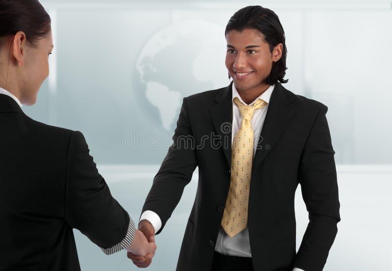 Diverse business handshake royalty free stock image