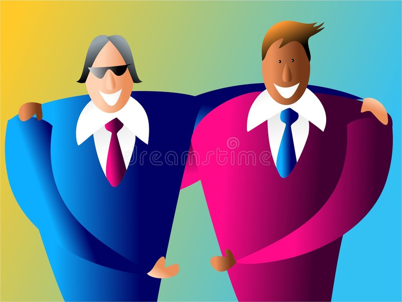 Download Diverse business partners stock illustration. Illustration of connect - 454784