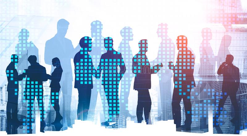Diverse business people in city. Globalization royalty free stock photos