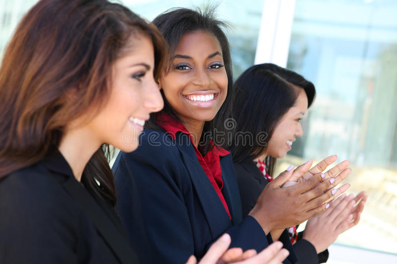 Diverse Business Team Clapping stock image