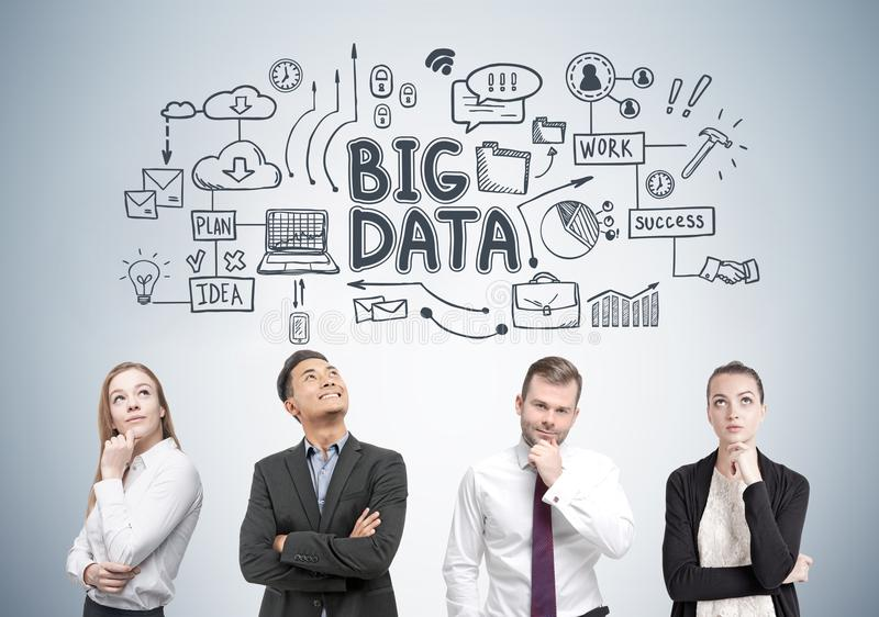 Diverse business team members, big data stock image