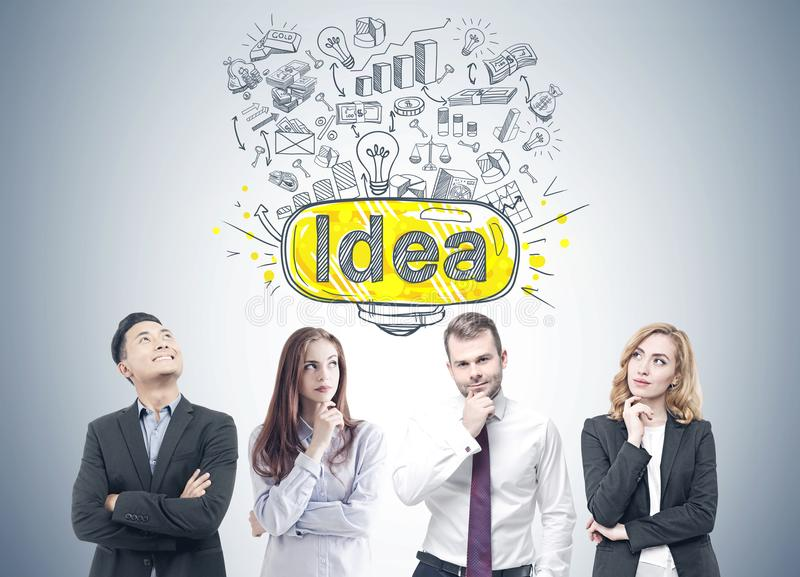Diverse business team members, idea stock image