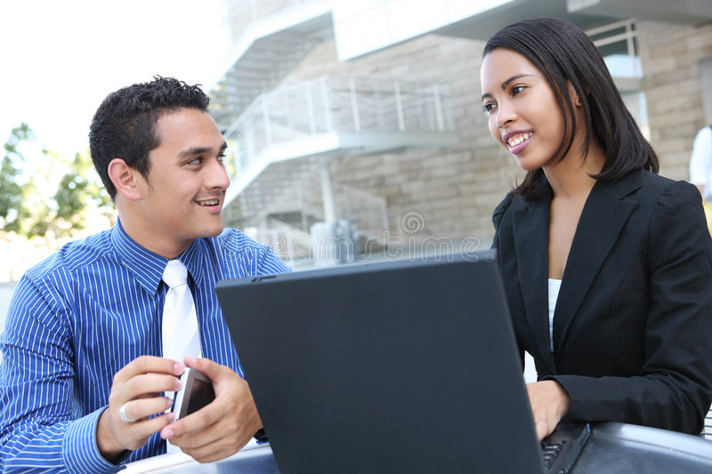 Diverse Business Team at Office Building royalty free stock images