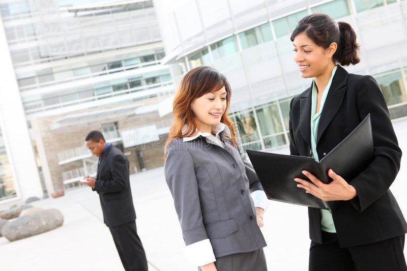 Download Diverse Business Team At Office Building Stock Image - Image: 8052741