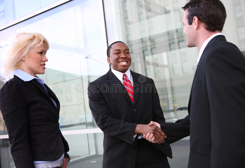 Diverse Business Team Shaking Hands Royalty Free Stock Images