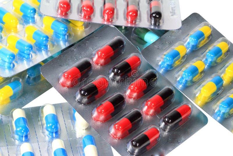 Diverse capsule de pilules image stock