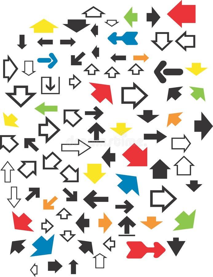 Diverse collection de flèches illustration libre de droits