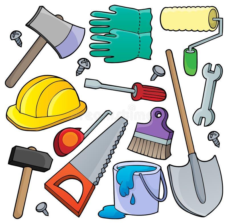 Diverse collection 1 de thème d'outils illustration de vecteur
