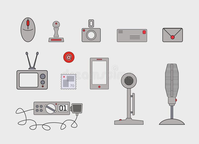 Diverse communicatiemiddelen en methodes vector illustratie