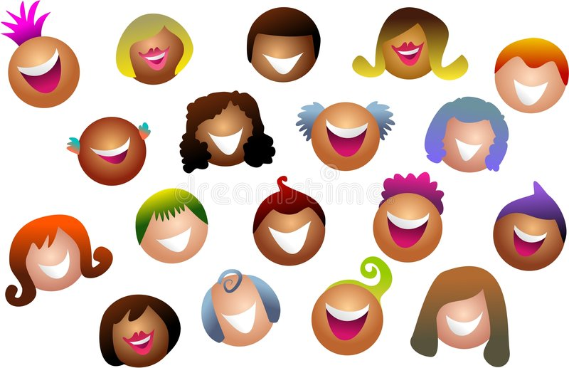 Diverse crowd vector illustration