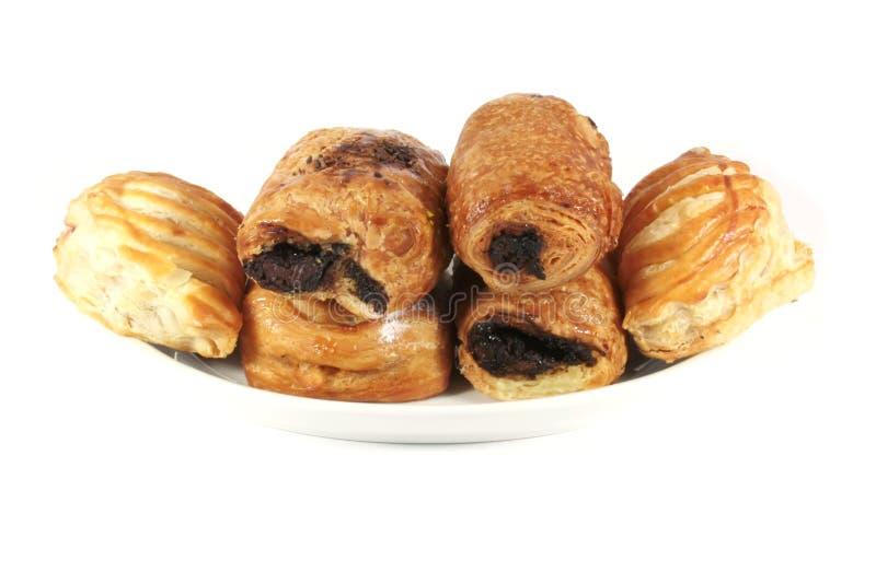 Diverse Deens gebakjes stock afbeeldingen