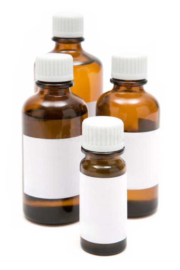 Diverse Flessen van de Geneeskunde royalty-vrije stock foto's