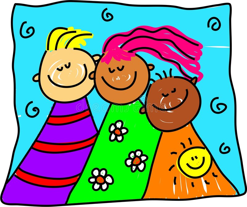 Diverse friends vector illustration