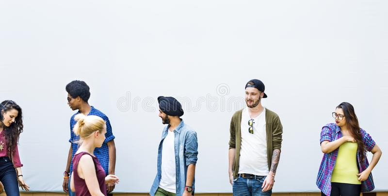 Diverse friends / students shoot royalty free stock images