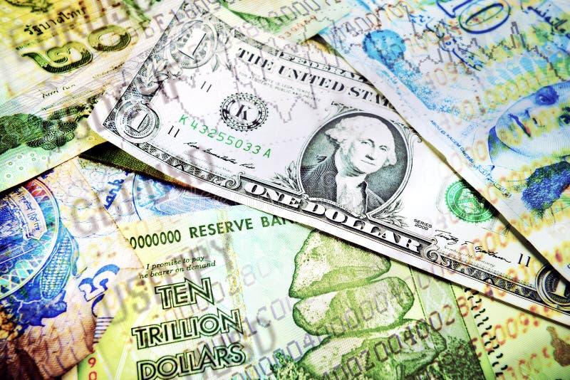 Diverse geld en marktaantallen royalty-vrije stock afbeelding
