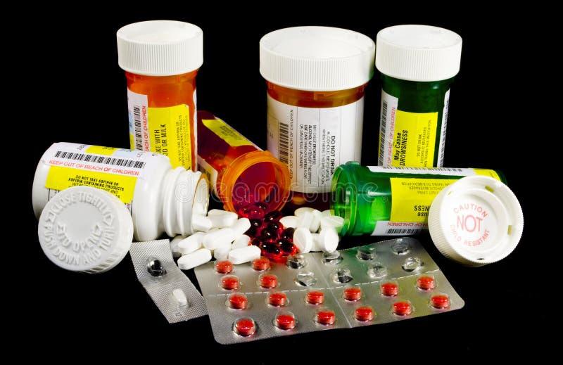 Diverse Geneesmiddelen en Narcotica stock afbeeldingen