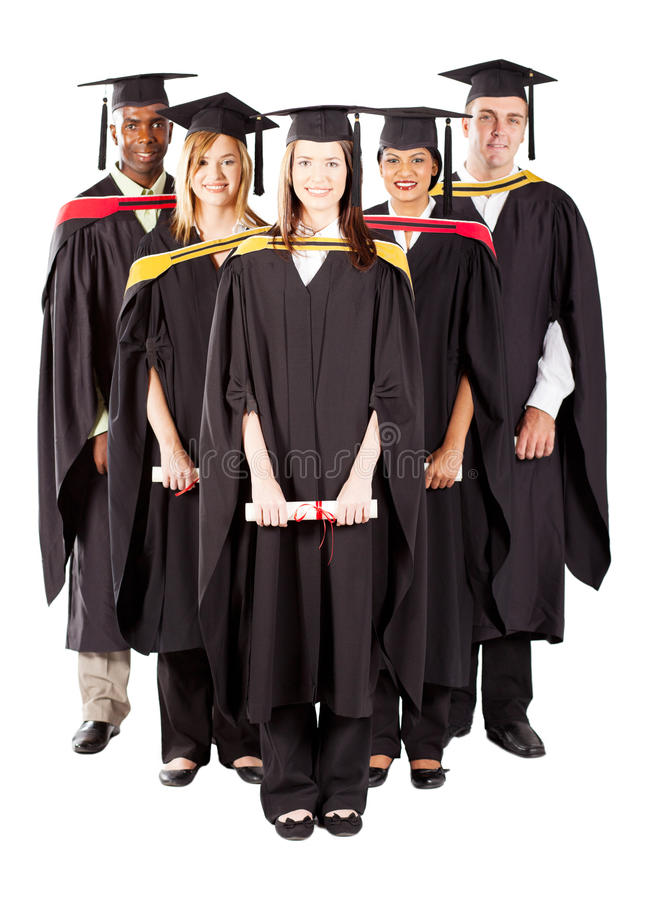 Diverse graduates group royalty free stock photo